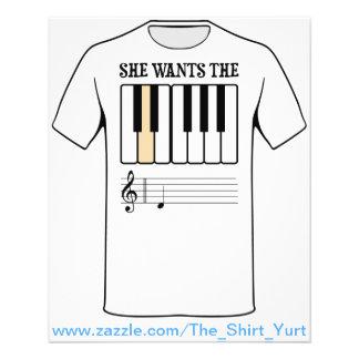 Sie will die d-Klavier-Musik Flyerdruck