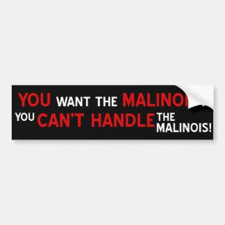 Sie wollen das Malinois? Autoaufkleber