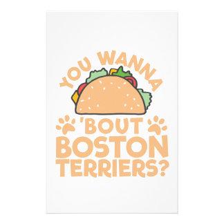 Sie wollen zu Taco-Kampf-Boston-Terriern? Briefpapier