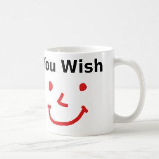 """""""Sie Wunsch"""" mit rotem Smiley Kaffeetasse"""
