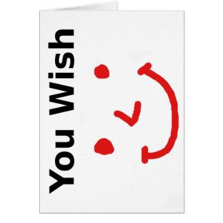 """""""Sie Wunsch"""" mit rotem Smiley Karte"""