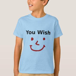"""""""Sie Wunsch"""" mit rotem Smiley T-Shirt"""