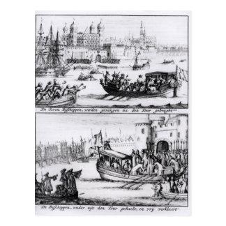 Sieben Bischöfe gehen zum Turm, 1688 Postkarte