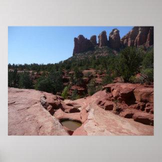 Sieben heilige Pools in Sedona Arizona Poster