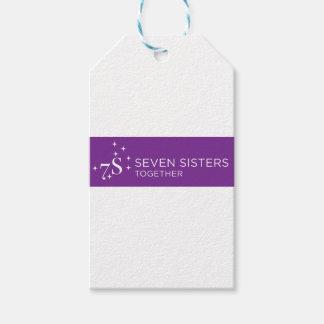 Sieben Schwester-Geschenk-Verpackung Geschenkanhänger
