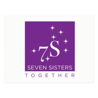 Sieben Schwester-zusammen Postkarten