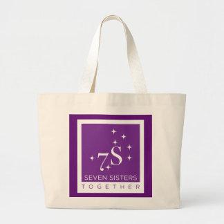 Sieben Schwester-zusammen Taschen-Tasche Jumbo Stoffbeutel
