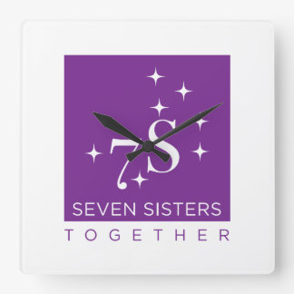 Sieben Schwester-zusammen Wanduhr