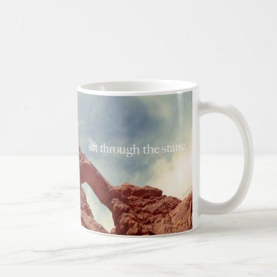 sieben Sie durch den Static Kaffeetasse