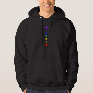 Sieben vertikale chakras hoodie