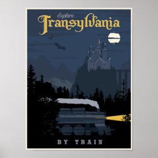Siebenbürgen durch Zugreiseplakat Poster
