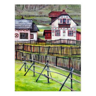 Siebenbürgen, Rumänien, malerische gemalte Postkarte