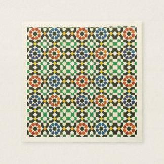 Siebzigerjahre marokkanisches Farbmuster Serviette
