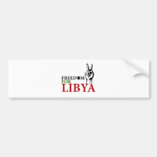 Sieg u. Freiheit für Libyen Autoaufkleber
