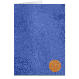 Siegel des GoldArt101 - blaue Grußkarte