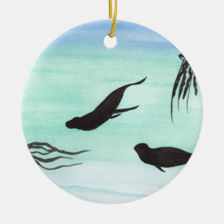 Siegel Unterwasser Rundes Keramik Ornament