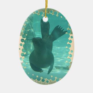SIEGEL-UNTERWASSERtanz Ovales Keramik Ornament