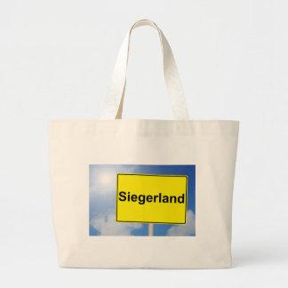 Siegerland Schild mit Himmelhintergrund Jumbo Stoffbeutel