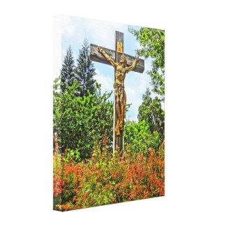 Siegreicher Christusbronzeskulptur-Winter-Park, FL Leinwanddruck