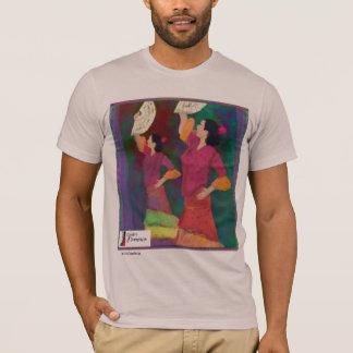 Siempre Flamenco-Spanisch-Tanz-T-Stück T-Shirt