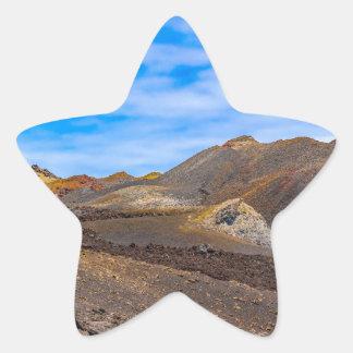 Sierra Negra Landschaft, Galapagos, Ecuador Stern-Aufkleber