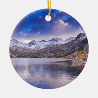 Sierra Nevada-Berge, Herbst, CA Rundes Keramik Ornament