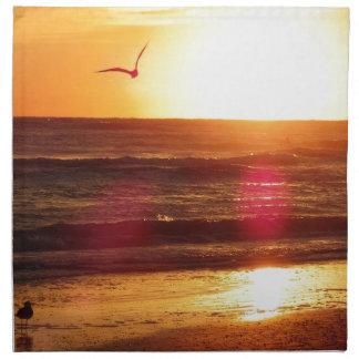 Siesta-Schlüsselstrand-Sonnenuntergang Stoffserviette