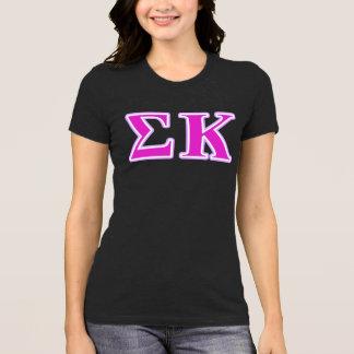 Sigma-Kappa-Lavendel und rosa Buchstaben T-Shirt