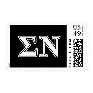 Sigma-NU-Weiß und -gotische Schriften Briefmarken