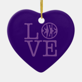 Sigma-Sigma-Sigma-Liebe Keramik Ornament