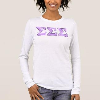 Sigma-Sigma-Sigma lila und Lavendel-Buchstaben Langarm T-Shirt