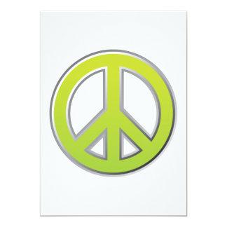 Signe de paix du cru | carton d'invitation  12,7 cm x 17,78 cm