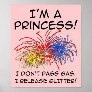 Signe de princesse Release Glitter Funny Poster