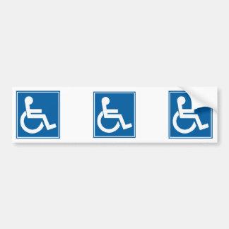 Signe d'handicap adhésif pour voiture