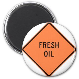 Signe frais de construction de route d'huile magnet rond 8 cm