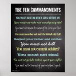 Signe moderne élégant de Dix commandements Posters