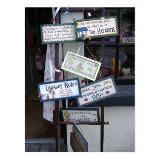 Signes drôles carte postale