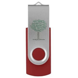 Silber, 8 GBs, rot Swivel USB Stick 2.0