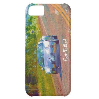 Silber-Blauer superschneller Sport-Auto-Spaß iPhone 5C Hülle