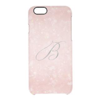 Silber in Monogramm B bezauberndem rosa rosa Bokeh Durchsichtige iPhone 6/6S Hülle