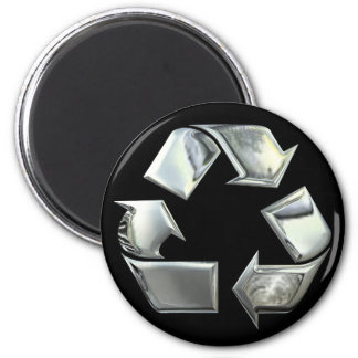 Silber recyceln Ikonen-Magneten Runder Magnet 5,7 Cm