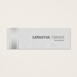 Silber Stripes weißes Leder-berufliche Gewohnheit Mini Visitenkarte