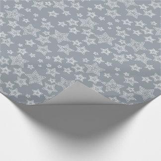 Silber und Glitzer Geschenkpapier