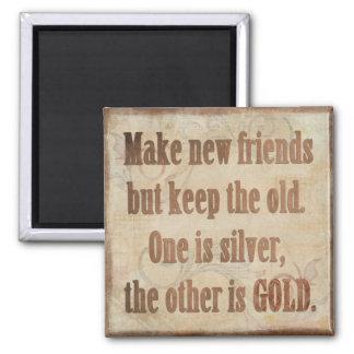Silber- und Goldfreundschaften Quadratischer Magnet