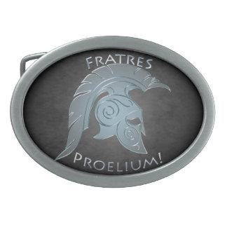 Silber, zum der spartanischen ovale gürtelschnallen