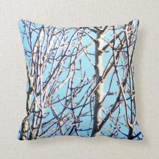 Silberne Birken-Bäume Kissen