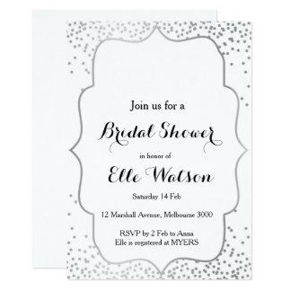 Silberne Brautparty-Einladung 12,7 X 17,8 Cm Einladungskarte