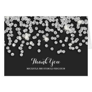 Silberne Diamant-Hochzeit danken Ihnen Mitteilungskarte