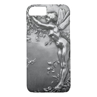 Silberne feenhafte antike Kunst Nouveau Vintager iPhone 7 Hülle