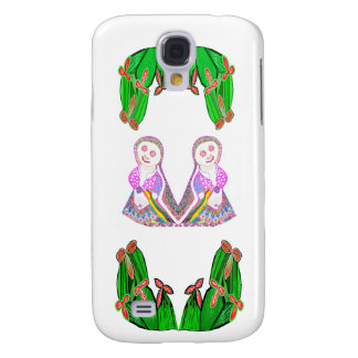 SILBERNE Folie Kaktus - grünes Thema Galaxy S4 Hülle
